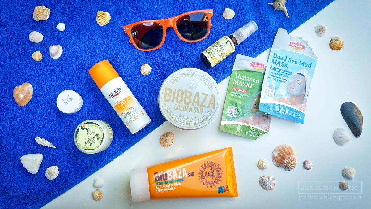 Nega kože na moru - biobaza jogurt posle sunčanja, eucerin sun oil control, biobaza pekmez za brzo tamnjenje, diva prirodna kozmetika herbasalve, hyaluron plus, feet rehab, sundance krema za sunčanje, schaebens maske za lice