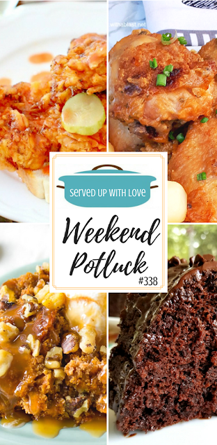 Impossible 5-Ingredient Chocolate Cake, Sticky Chicken, 3-Ingredient Crock Pot Pumpkin Cake, and Nashville Hot Chicken are Weekend Potluck featured recipes over at Served Up With Love.