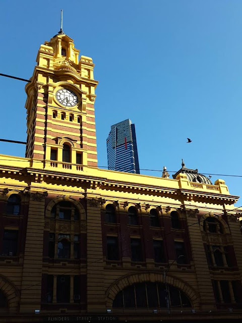 Flinders Train Station in Melbourne Australia