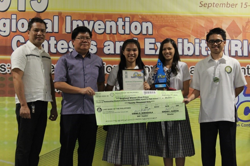 Student Creative Research Category for High School Regional Winner