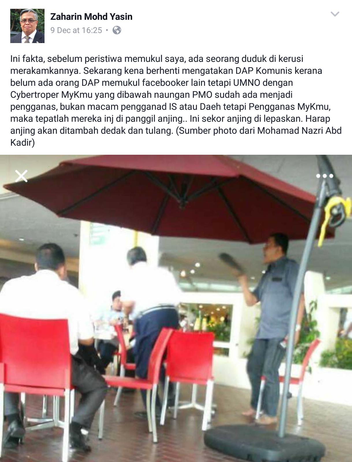 Ketua Cawangan Umno Kena Pukul Dengan Anjing Belaan Najib MiLo