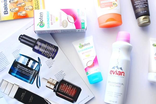 Evian facial spray.Evian sprej za lice.Bioten Skinnergy go moist face cream krema za lice.