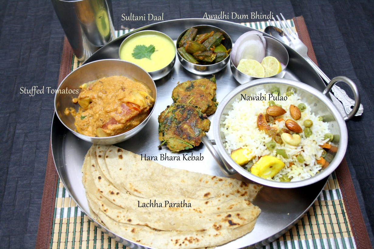 Spice your life uttar pradesh awadhi thali for Awadhi cuisine menu