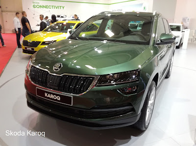 Skoda Karoq exterior - green