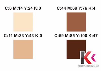 Pallete warna vektor