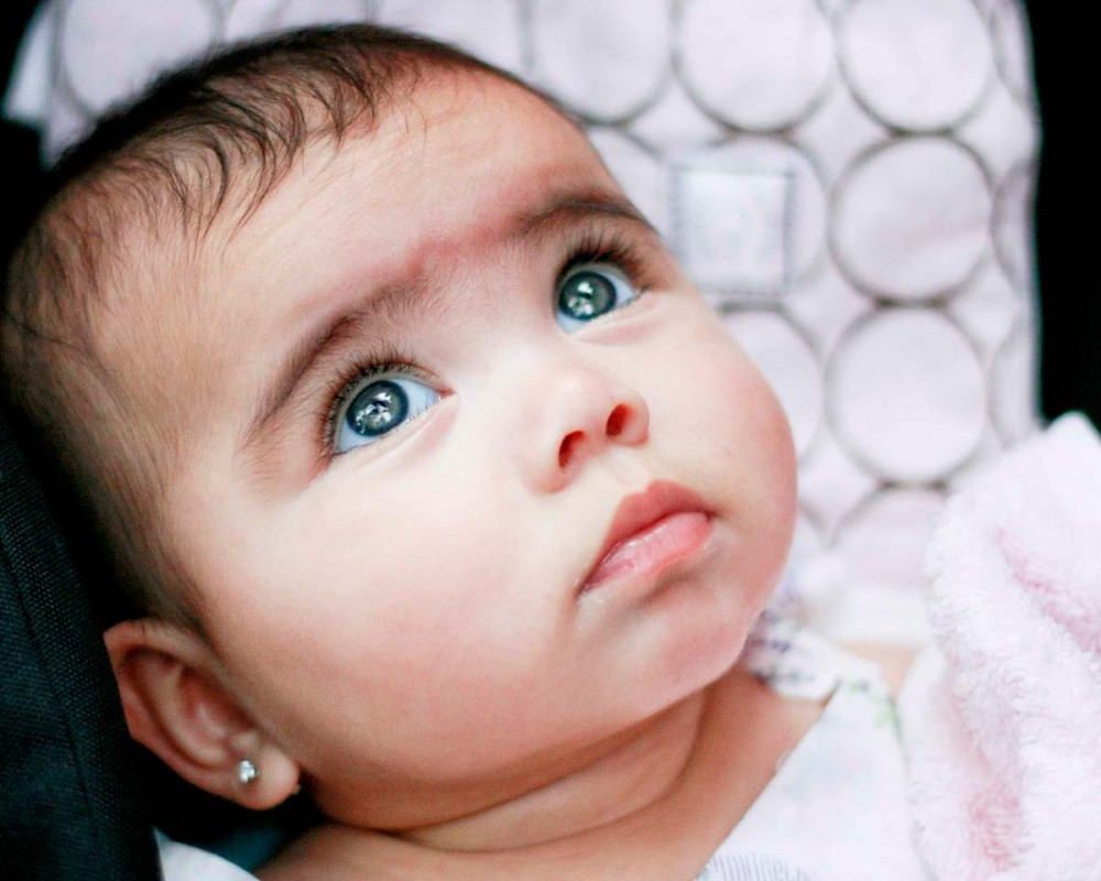 beautiful eyes of baby ~ Wallpaper DOck