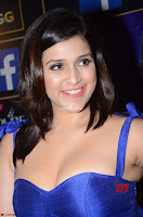 Mannara Chopra in Deep Neck Blue Gown at Zee Telugu Apsara Awards ~  Exclusive 002.jpg