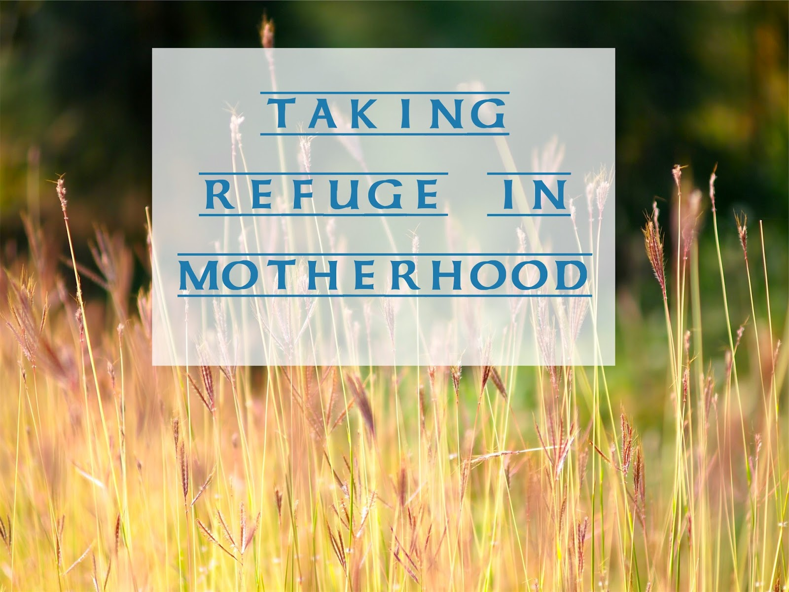 Taking Refuge in Motherhood -- living in the moment can be hard when you're waist-deep in the work of parenting  {posted @ Unremarkable Files}