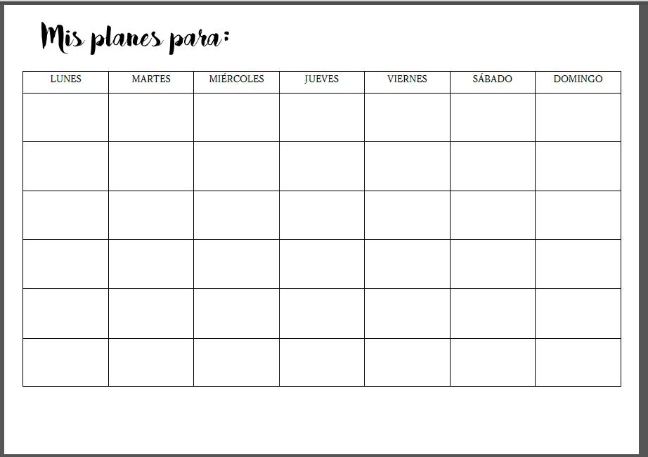 Calendario Para Escribir.Mi Medio Limon Verde Crea Tu Propio Calendario Mensual