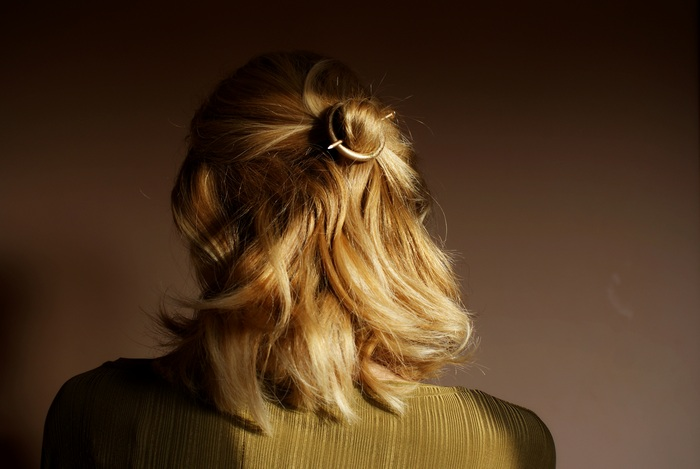 diy minimal circle hair pin francinesplaceblog
