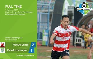 Madura United Kalahkan Persela Lamongan 2-1