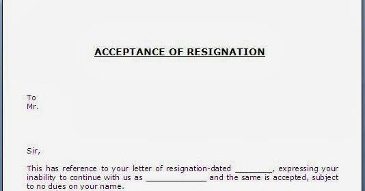 Employee Resignation Acceptance Letter Image collections - Letter - accepting resignation