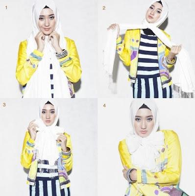 Tutorial hijab wisuda pashmina terbaru
