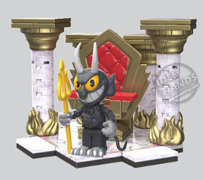 Toy Fair 2019 McFarlane Construction Cuphead Official Pics Devil's Throne Small Construction Set