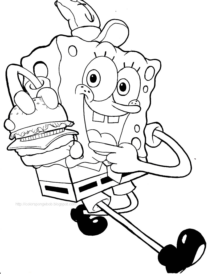 Spongebob coloring pages for Coloring page spongebob
