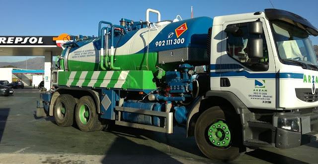 flotas camiones desatrancos Madrid