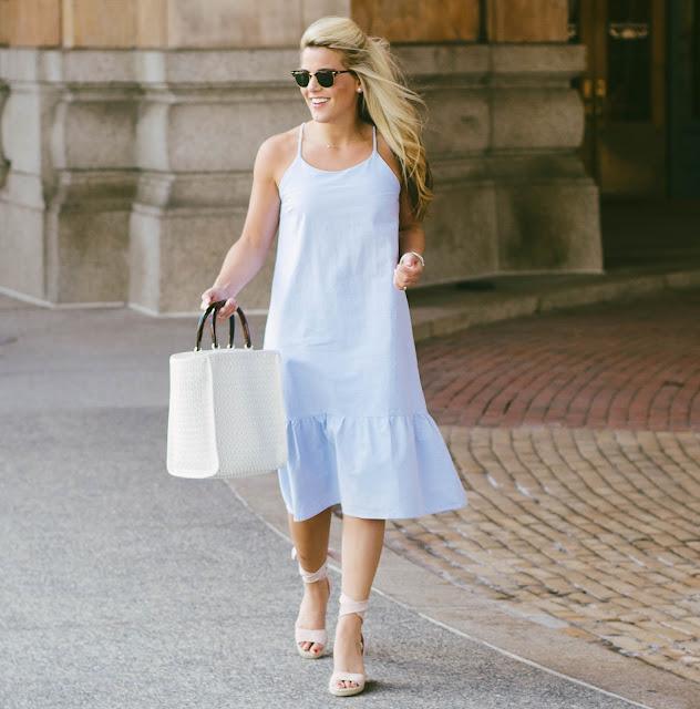 Blue Midi Dress Under $60