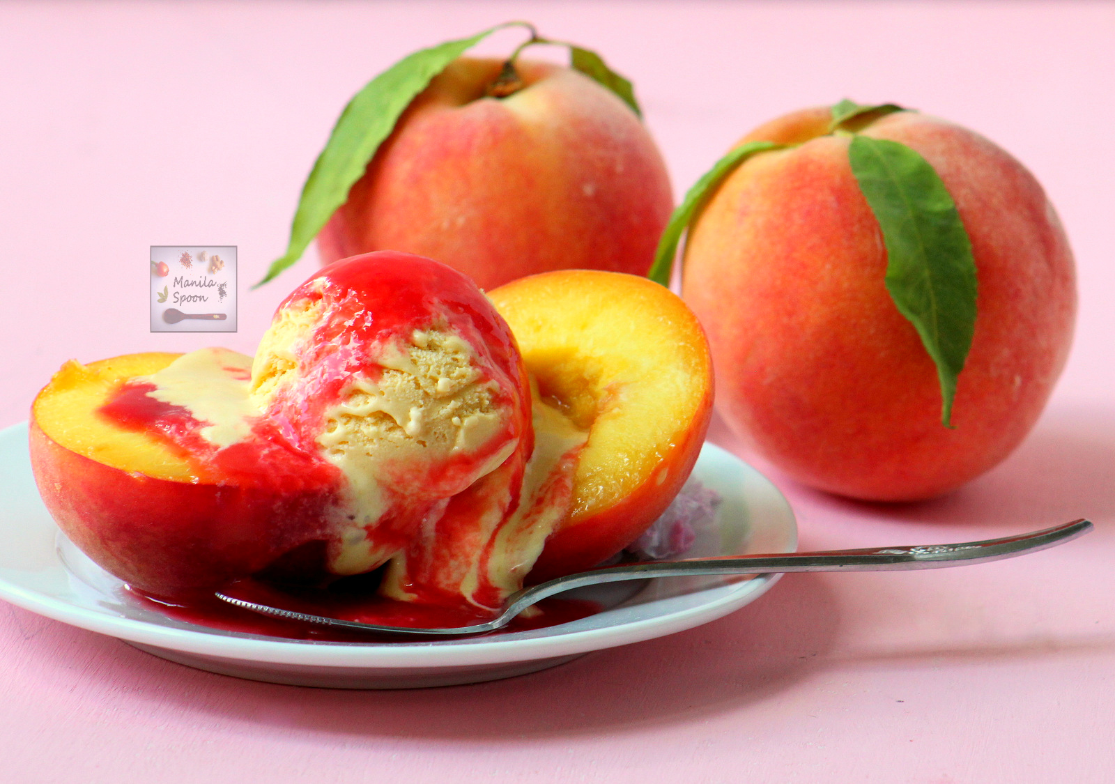 Quick and Easy Peach Melba
