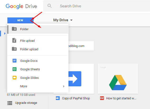 Google Drive for Blogger