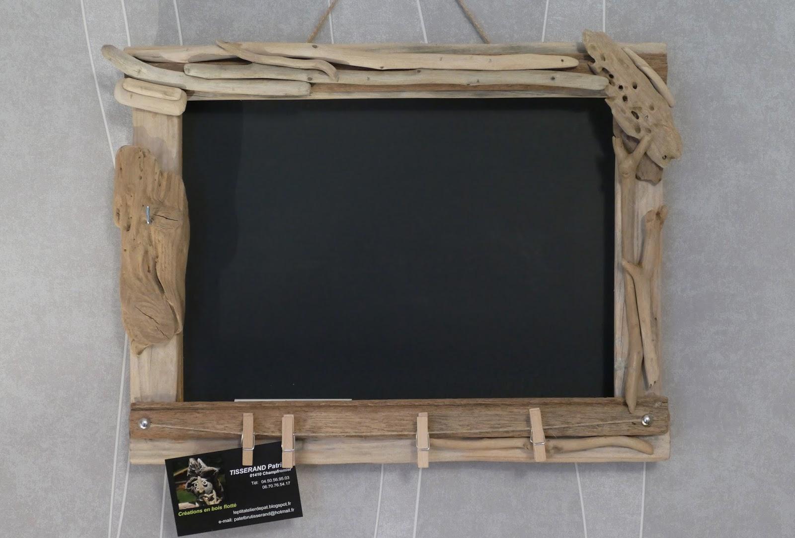 le p 39 tit atelier de pat bois flott et ardoise. Black Bedroom Furniture Sets. Home Design Ideas