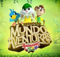 Promoção Animados Zoo 2018 Mundo de Aventuras