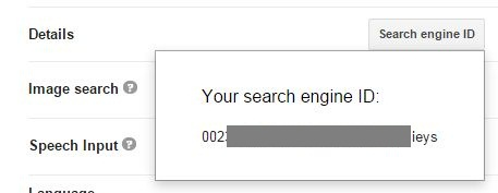Get google cse engine id
