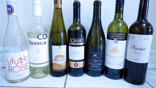 Wine Lineup for June 24, 2018 Birthday Party
