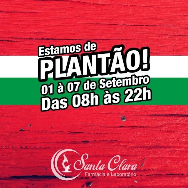 Confira plantão Farmácia Santa Clara