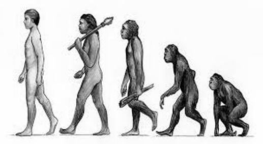 Gambar ilustrasi manusia purba dan revolusinya