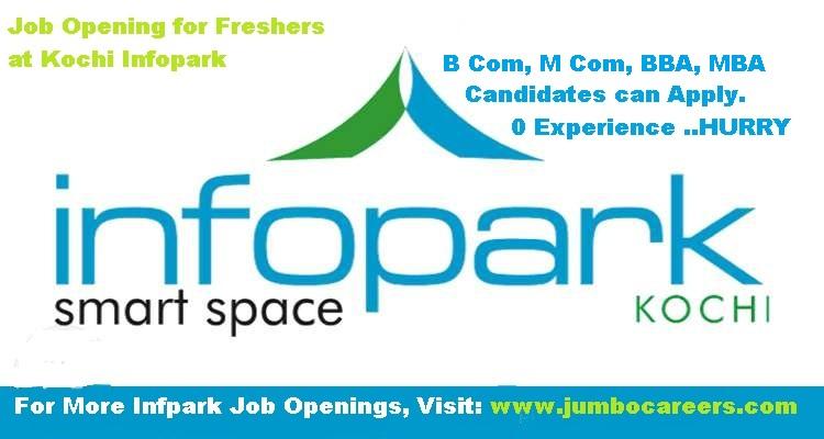 bcom mcom bba mba freshers jobs at infopark kochi - latest openings