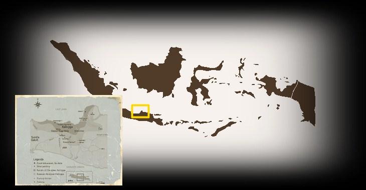 Peta wilayah kekuasaan Kerajaan Kalingga