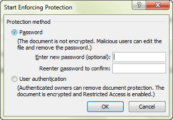 lock Word document with segment password protection