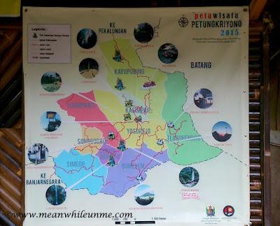 Petungkriyono, Negeri 1000 Curug Peta Wisata