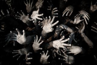 Spooky Halloween hands