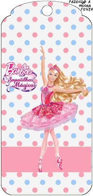 Barbie E As Sapatilhas Magicas Kit Completo Com Molduras Para
