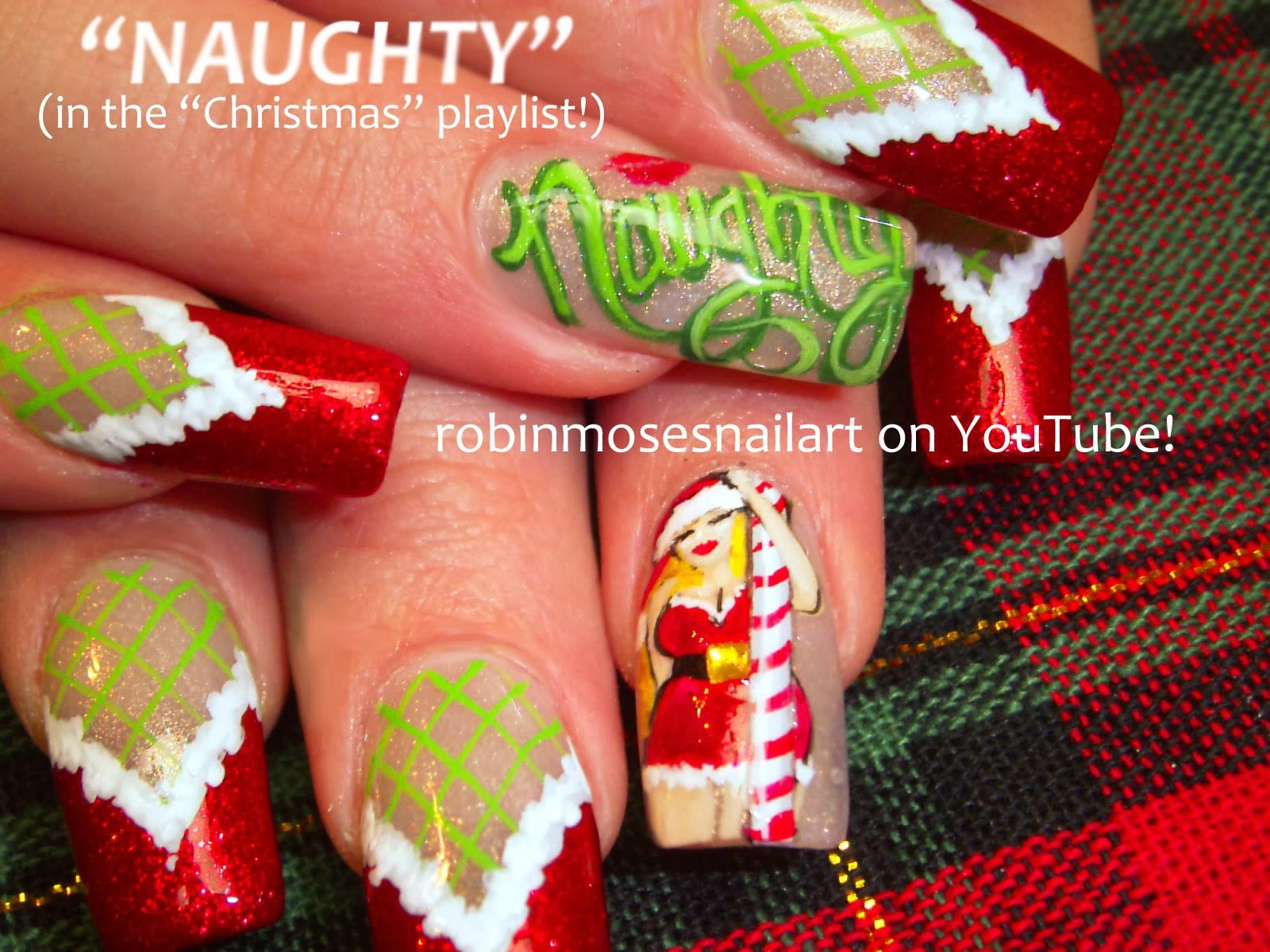 Nail Art By Robin Moses Christmas Nail Art Christmas Nails Cute