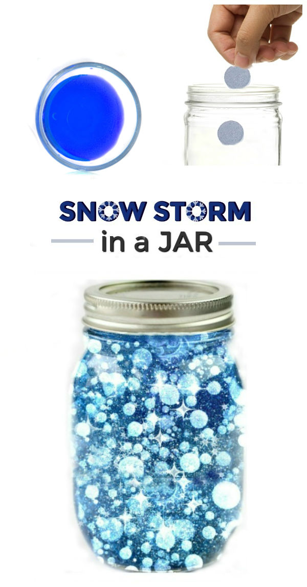MAKE A SNOW STORM IN A JAR! Experiment for Kids #sciencefairprojects #scienceexperimentskids #scienceforkids #snowstorminajar #snowstorm #preschoolscienceactivities #snowstemactivitiesforkids