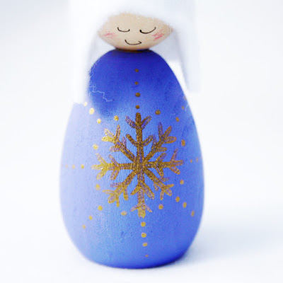 Blue Snowflake Cornish Pixie Elf