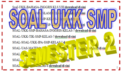 Soal UKK SMP Kelas 8 Kurikulum 2013 Tahun 2017/2018