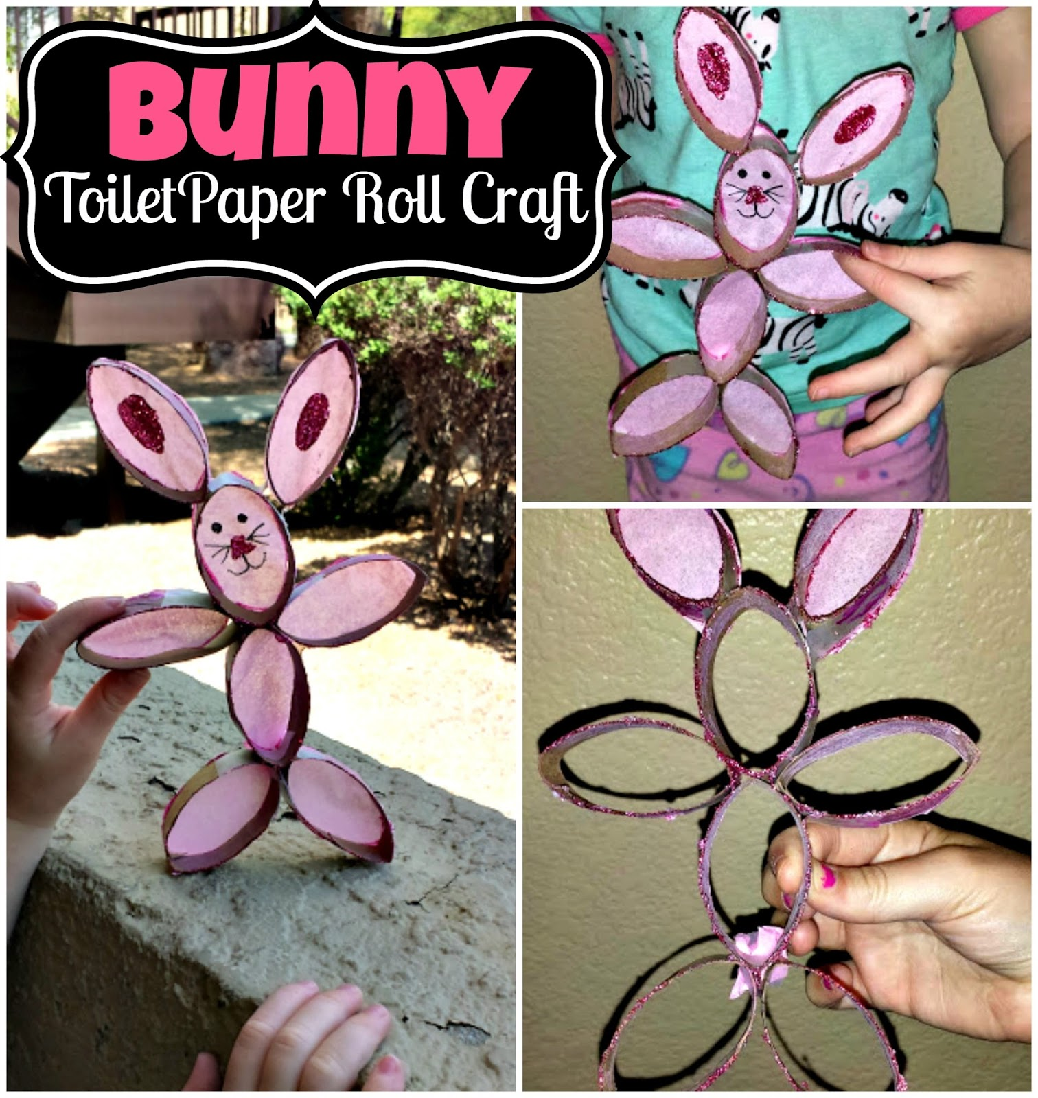 Diy Toilet Paper Roll Bunny Rabbit Craft For Kids Crafty