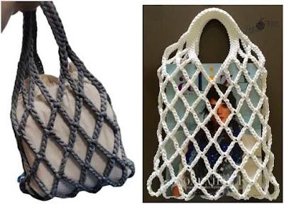 Cómo tejer una bolsa malla-red a base de cadenetas