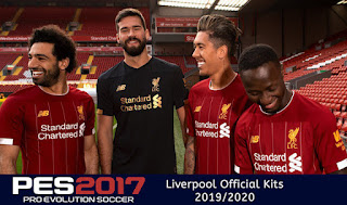 PES 2017 Liverpool Official Kits 2019/2020 (Home, Gk)