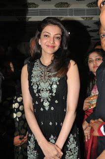 Kajal Agarwal looks super cute in black dress