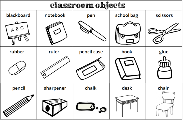 First graders daoiz classroom objects what s this it s a for 10 objetos del salon en ingles