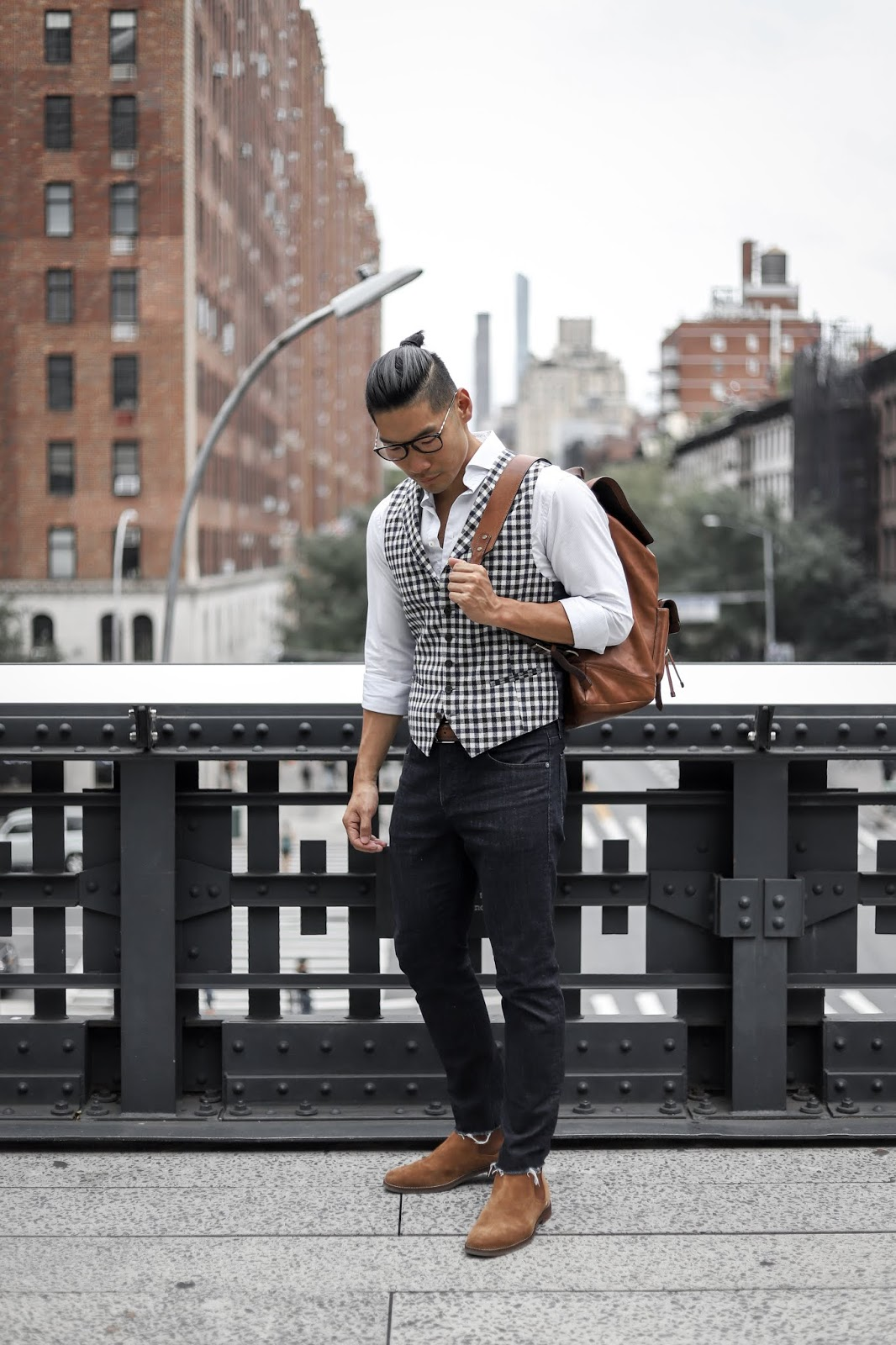 Leo Chan wearing Sperry Gold Cup Exeter Chelsea Boots | Summer to Fall Style | Asian Male Model and Blogger