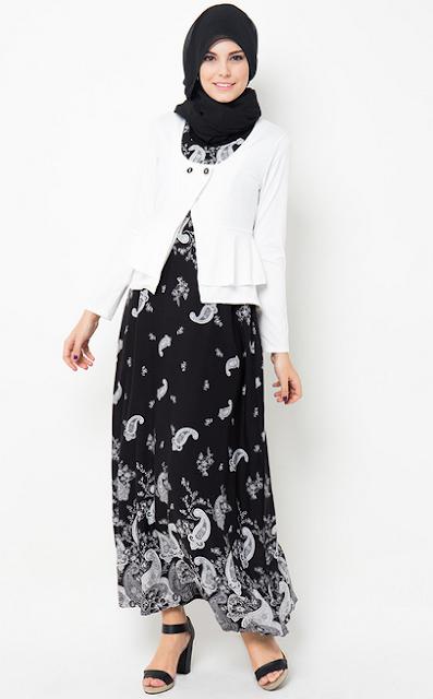 Gambar Model Baju Batik Muslim Terbaru 2015