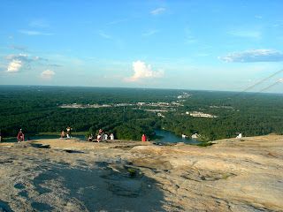 view from  the top of Stone Mountain Georgia