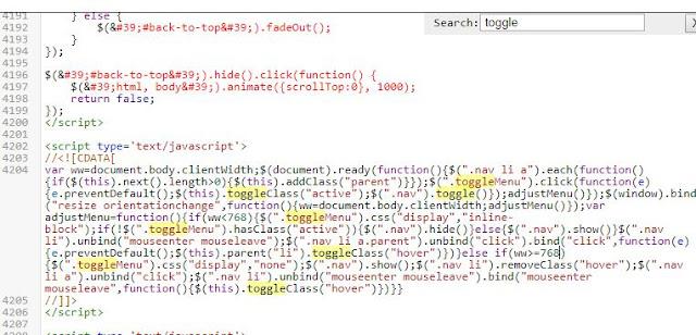 membuat toggle menu tetap aktif