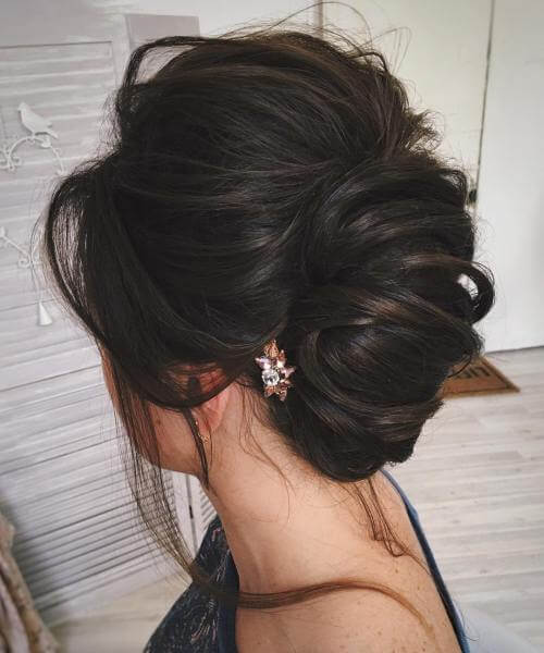 simple, elegant, updos fo long hair ,french