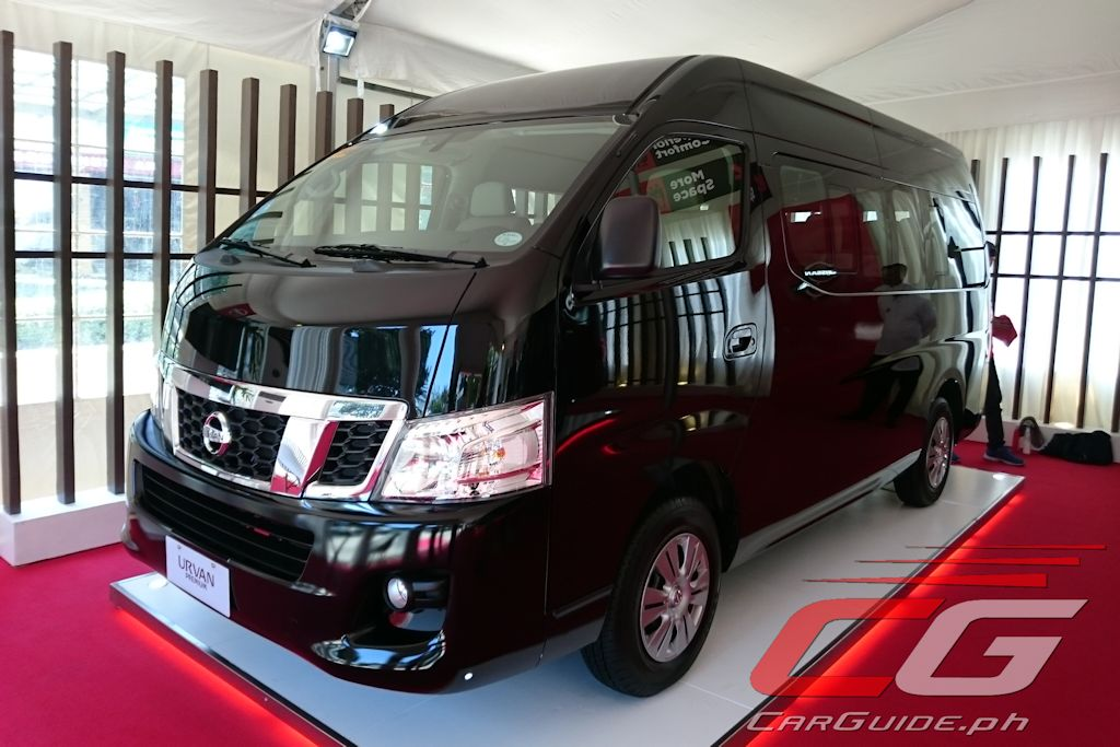 The 2017 Nissan Urvan Premium Will Be Available For Sale By June With A Price Of P 1650000 Three Colors Are Alpine White Black Obsidian